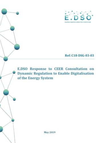 79a0d8c72af1 E.DSO responds to CEER consultation on Dynamic Regulation to Enable  Digitalisation of the Energy System